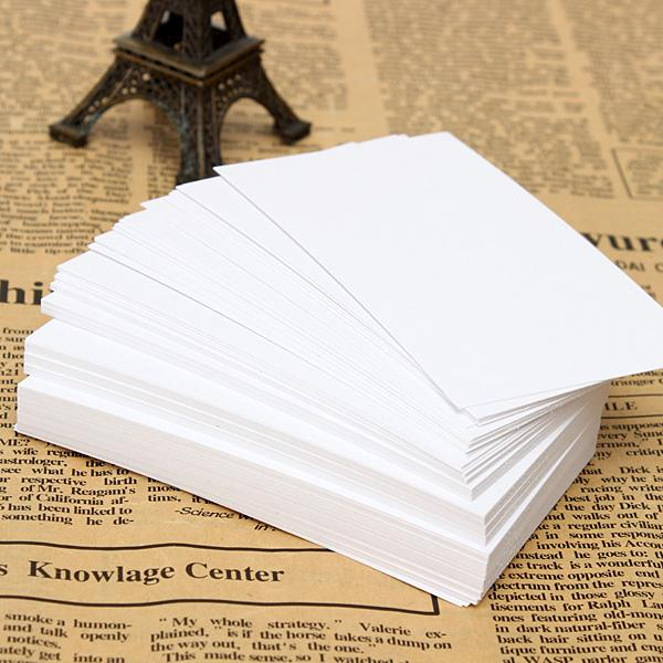2015 White Blank Business Cards 120gsm - 90 x 55mm - Print Your Own DTY Craft order<$18no track
