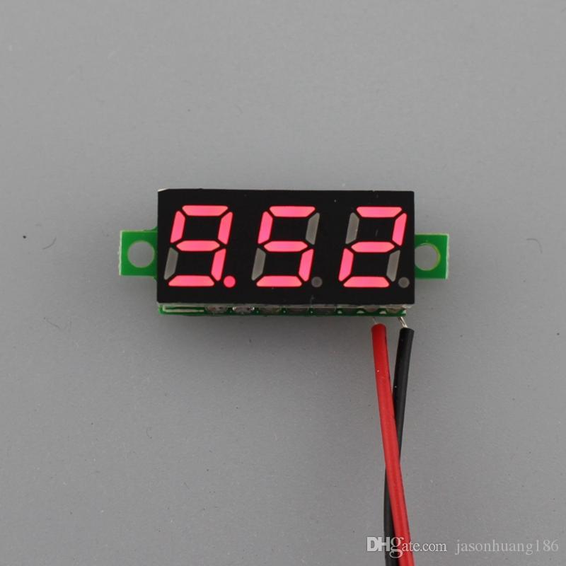 /ロット新しい0.28インチスーパーミニデジタル電圧計DC 3.5-30Vカーボルト電圧パネルメータゲージレッドLED