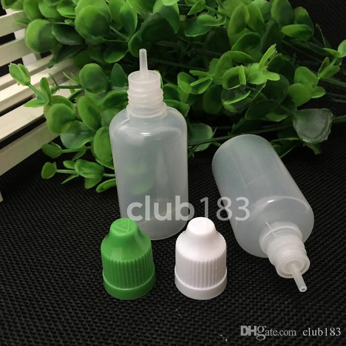 Hochwertige E Cig Kunststoff Tropfflasche mit Kindergesicherte Kappe und lange dünne Tropferspitze leere Flasche 30ml E-Flüssigkeitsflaschen