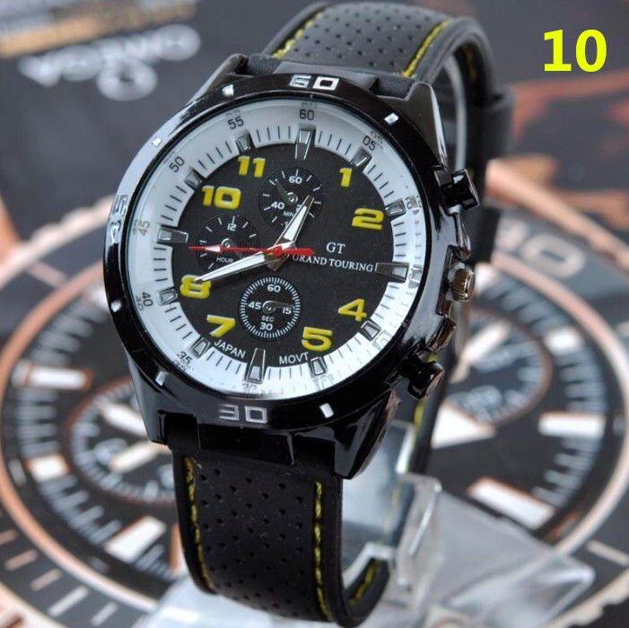 2017 Fashion GT Watch Grand Touring F1 Men sports watch luxurysport man military watches Silicone Strap Quartz WristWatch watchband hot
