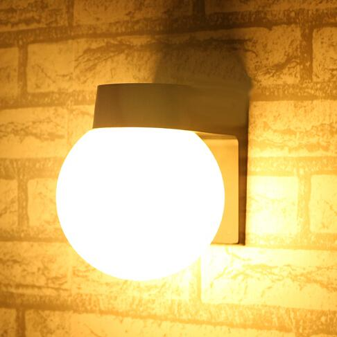 Bedside wall lighting Study New Acrylic Ball Led Wall Lights Bedside Wall Lamp110v 220v Outdoor Wall Lamp Bathroom Antifog Mirror Lights Led Garden Lamp Outdoor Wall Lighting Wall Jamminonhaightcom New Acrylic Ball Led Wall Lights Bedside Wall Lamp110v 220v