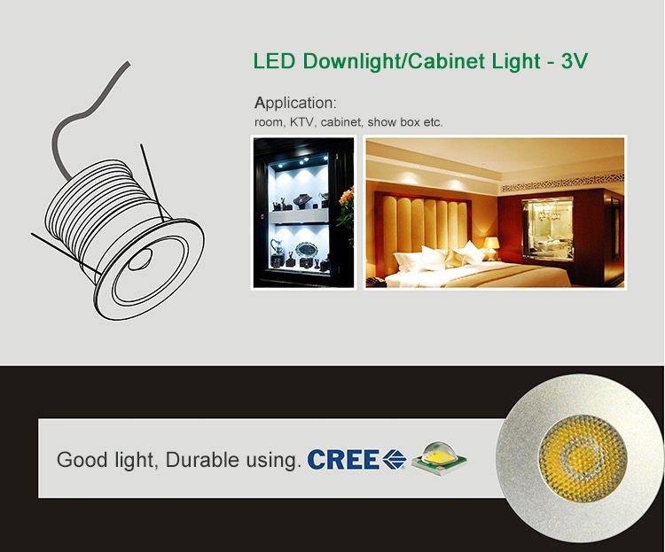 Mini LED Downlight 3W DC3V Spotlight Wall light Cabinet Light Energy saving lamp Warm white Nature white Cold white