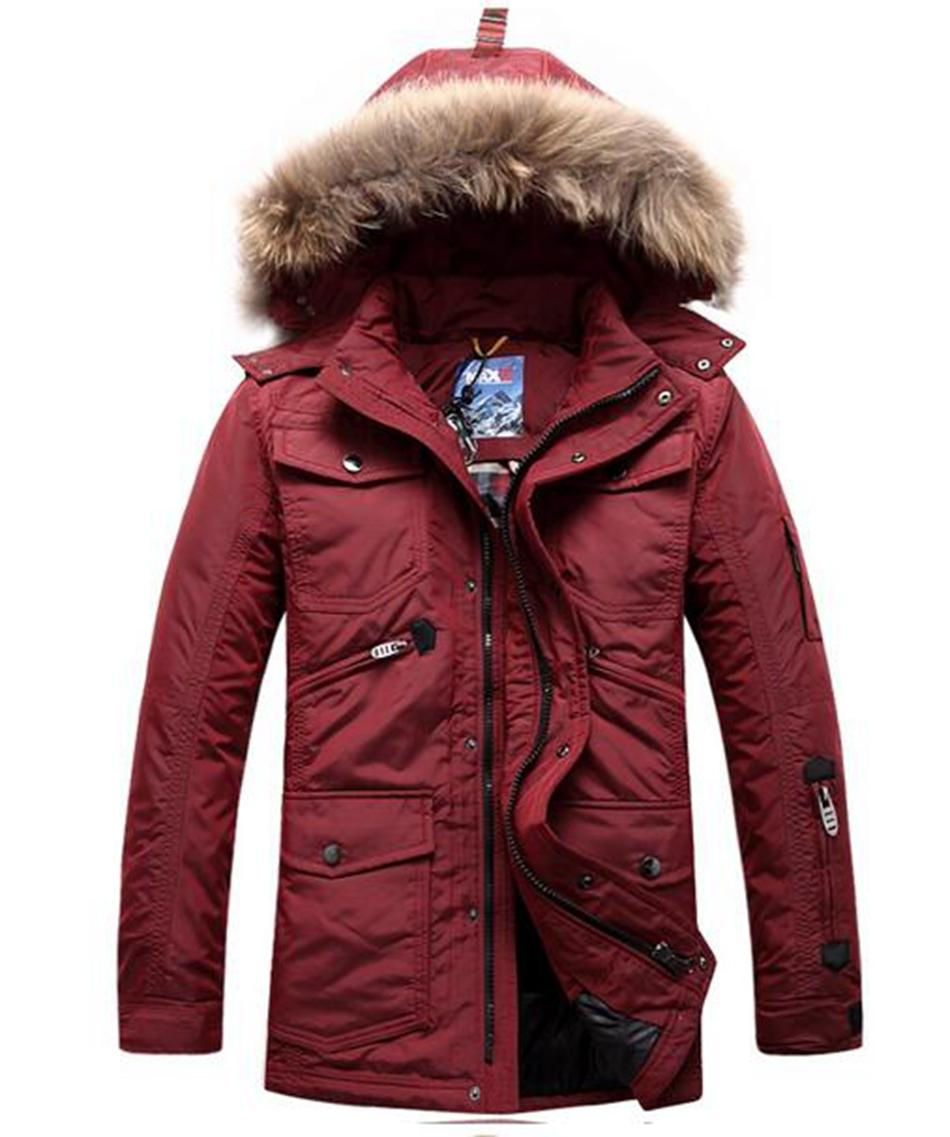 Men's winter outdoor thermal brand new authentic fashion leisure cultivate one's morality even cap long big yards down jacket. S - 6xl