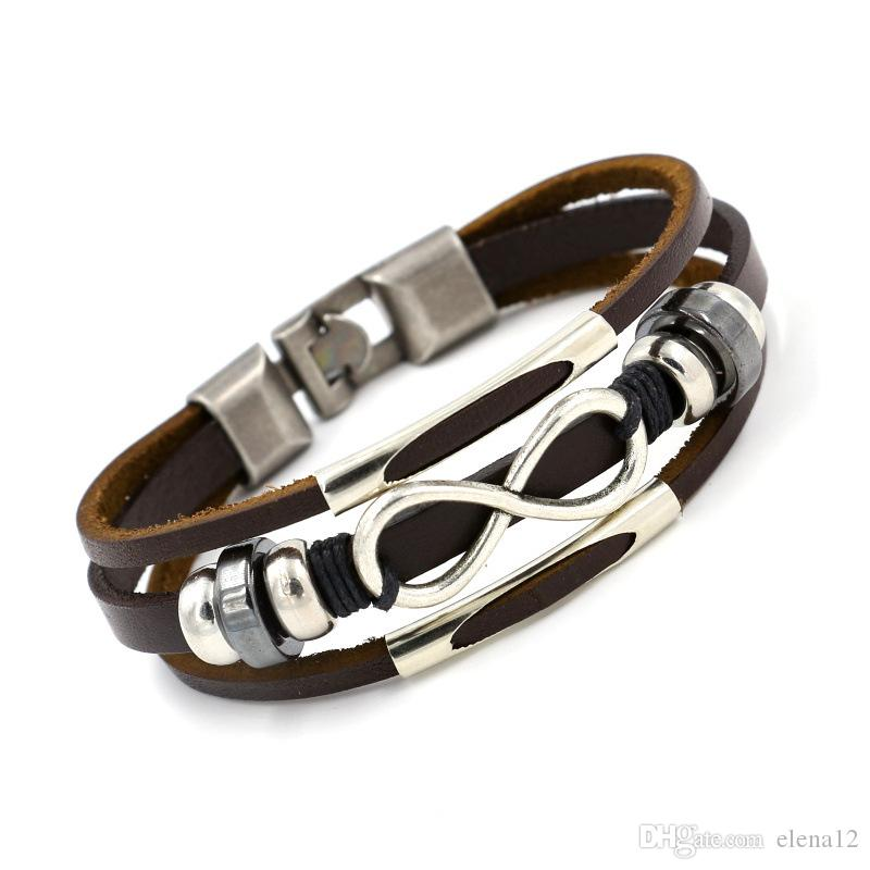 bracelet bangles buckle sale leather hot quailty product infinity friendship men high bangle products image women genuine chain hand
