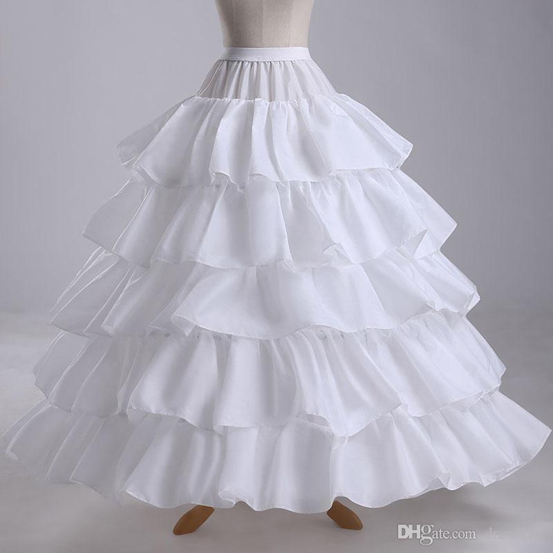 Czarowna Suknia ślubna Petticoats 4-Hoop Cascading Ruffles Rock and Roll Crinoline Bridal Dress Suknia Korant EN4296