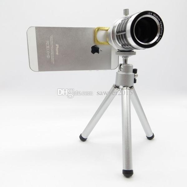 Cat Clip 12X Optical Mobile Phone Camera Lens For iphone For Samsung With Tripod Fish Eye Lens 12x Mobile Phone Camera Lens