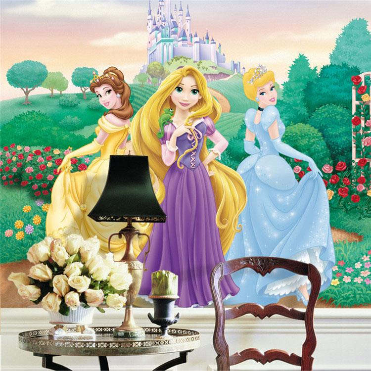 Delightful Lovely Princess Wallpaper Cartoon Photo Wallpaper For Girls Room Large Wall  Art Mural Snow White Rapunzel Room Decor Bedroom Home Decoration Wallpapers  Hd ... Part 31
