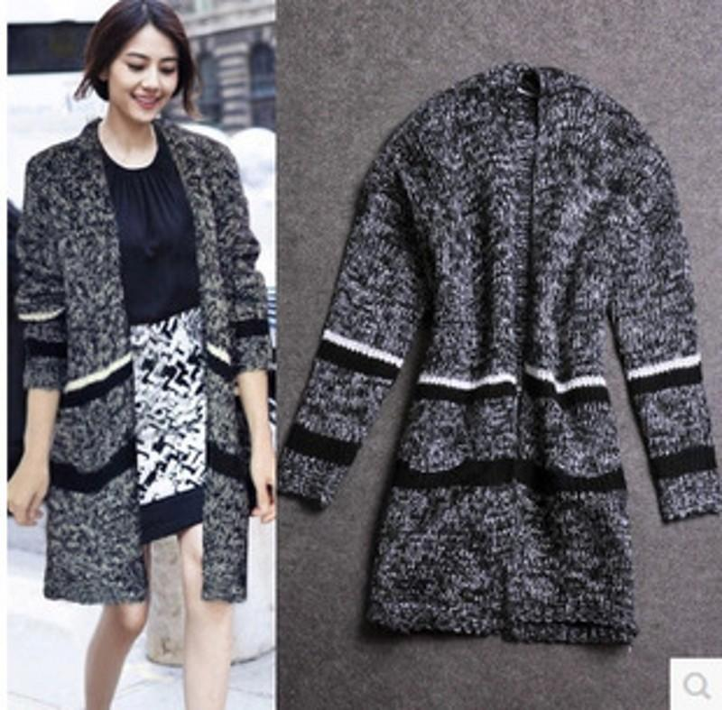 2015 Autunm Winter Thick Wool Sweater Coat Outwear Fashion ...