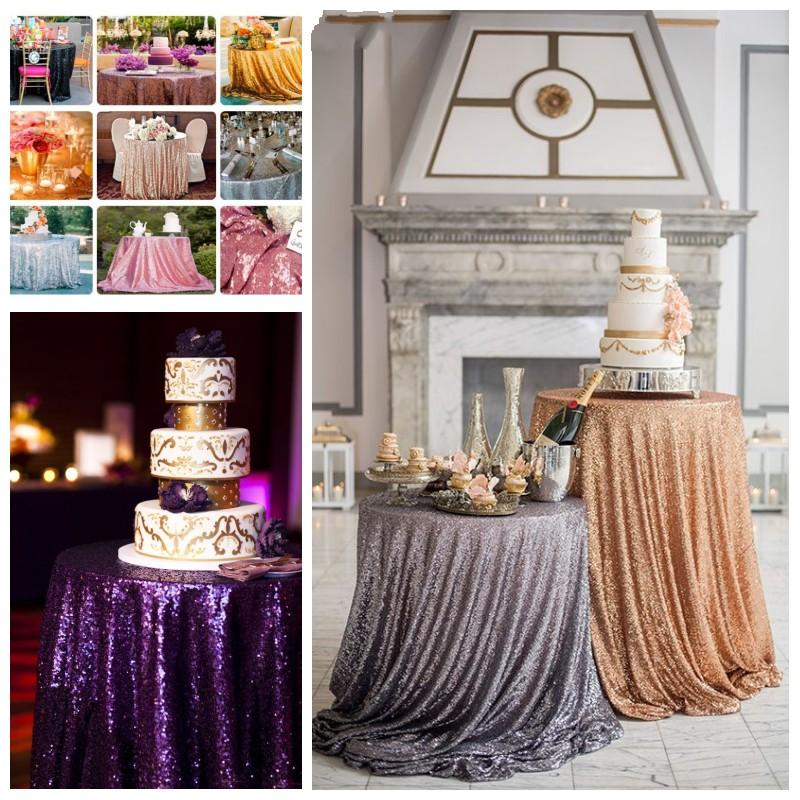 gold sequin round table cloth sparkly champagne tablecloth elegant wedding sequin table linens cheap diameter table cloth custom made wedding
