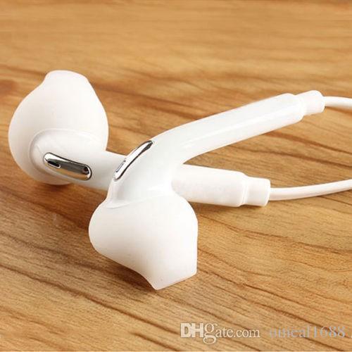 السماعات 3.5MM نوعية جيدة للحصول على سامسونج S8 S7 S6 سماعة عالية الجودة في الأذن سماعة مع مايكروفون حجم مربع التحكم مع كريستال التجزئة