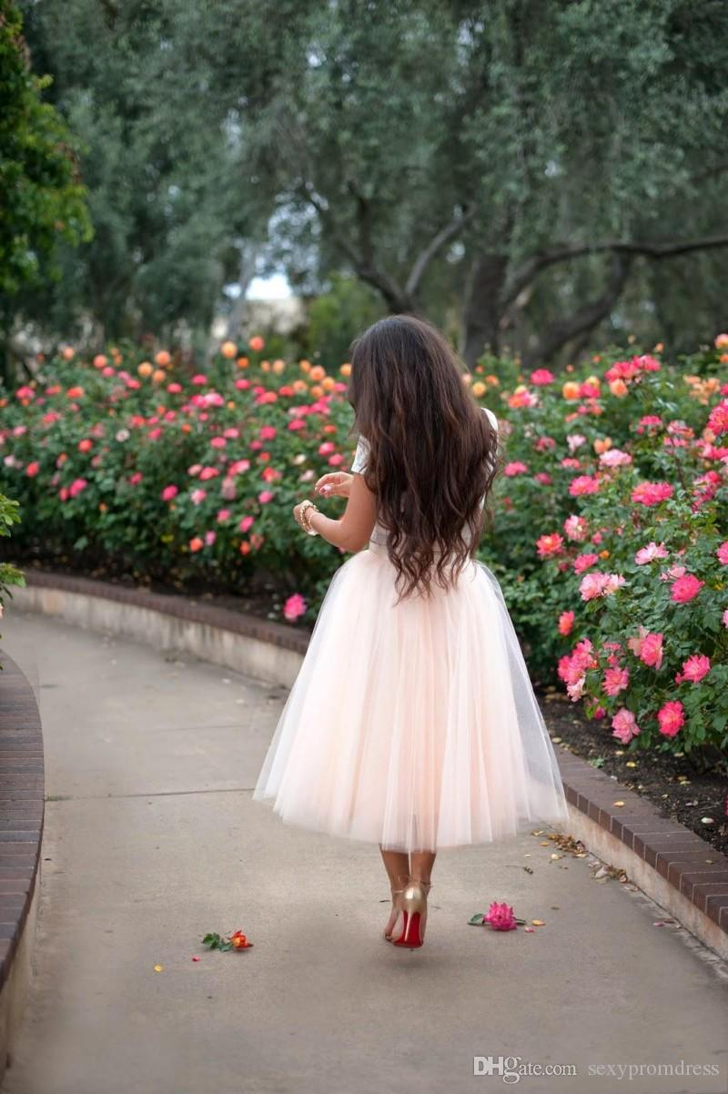 2015 Blush Pink Tulle Skirts Custom Ball Gown Women Skirts Tea Length Many Layers Party Dresses Cheap Skirts With Elastic Waist Plus Size