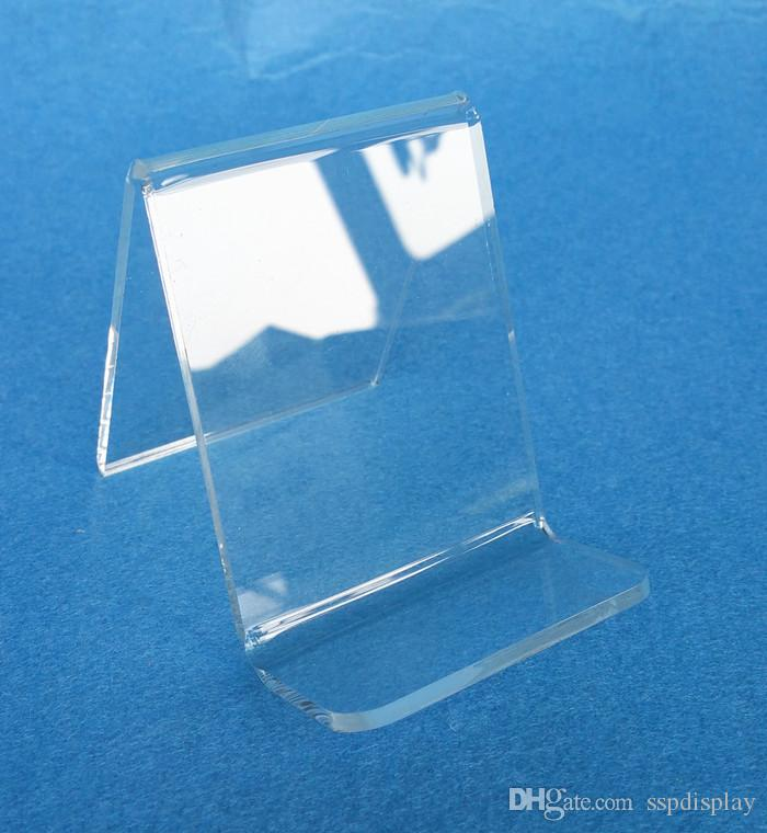 High Quality Acrylic Thick 3mm Purse Wallet Bag Iphone Book Products Display Rack Holder Stand One Tier Guesset 25mm