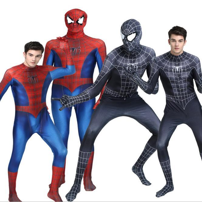 Red Black 3d Spiderman Costume Spider Man Suit Spandex Spider Man Costumes Adults Children Kids Spider Man Cosplay Clothing Halloween Costumes For 4 ...  sc 1 st  DHgate.com & Red Black 3d Spiderman Costume Spider Man Suit Spandex Spider Man ...