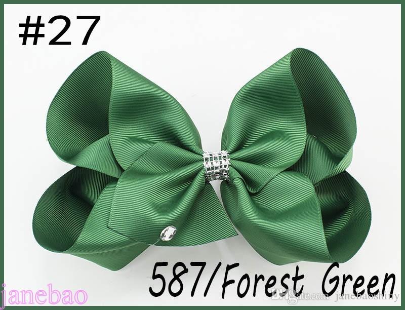 8''rhonestone hair bows big Signature Hair Bow Dance Cheerleader Pageant Bows