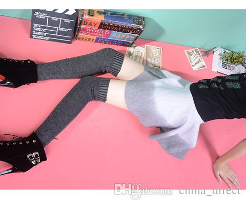 2015 over knee leg warmers Dance socks Warm up knitted booty Gaiters Boot Cuffs Socks Boot Covers Leggings Tight #3941