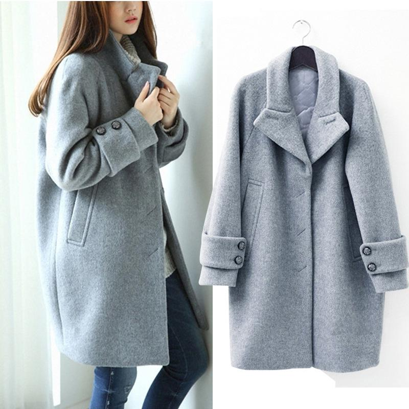 2018 2015 Winter Han Guodong Gates With A Thick Wool Coat Loose ...