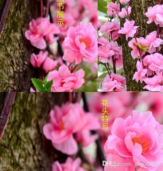 Jednolita symulacja Jedwab Sztuczny Brzoskwinia Kwiaty Kwiaty Pokój Doraz Doraz Dojazd Dnia Matki Th112