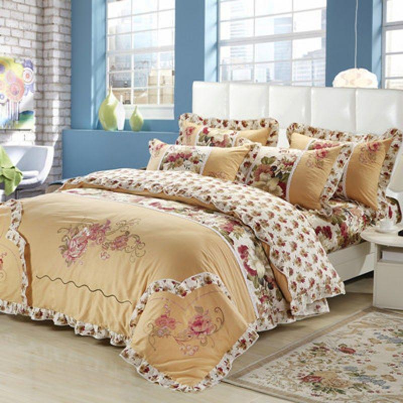 Elegant ... Printing Bed Linen With Duvet Cover Pillowcases Frill Bed Sheet Set  High Quality Bed Linen Ch China Bed Linen Egyptian Cheap Bed Linen Designer  Online ...