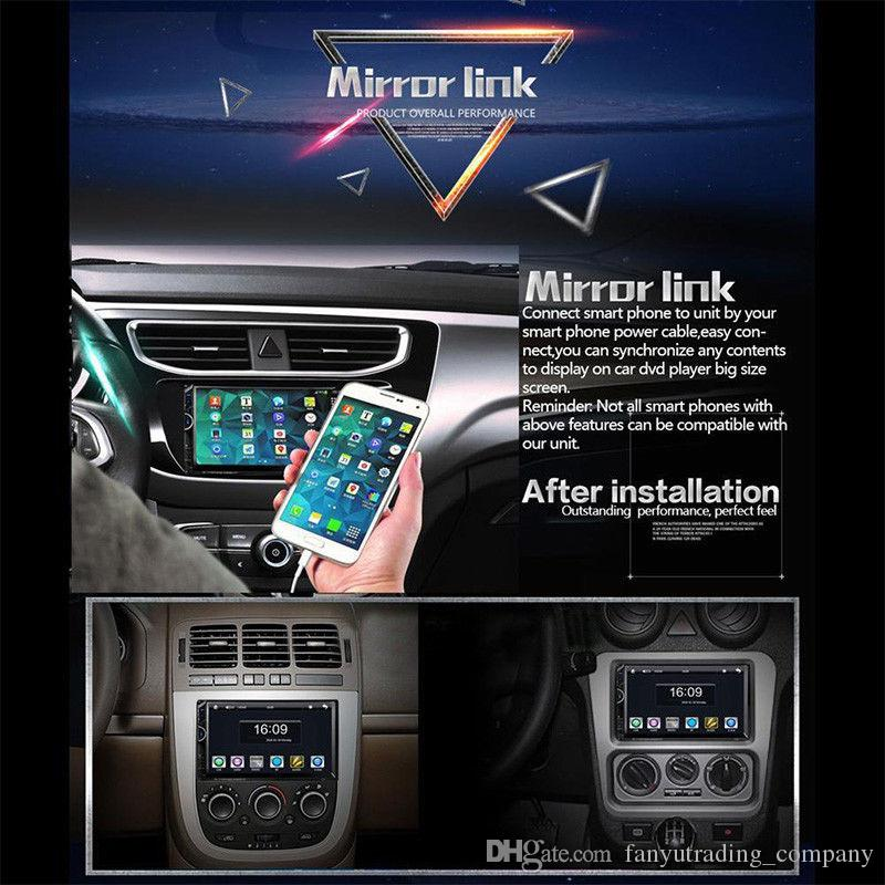 7 '' HD Touch Screen 2Din Autoradio MP5 FM AUX Spieler Bluetooth USB-Audioeingang Freies Verschiffen