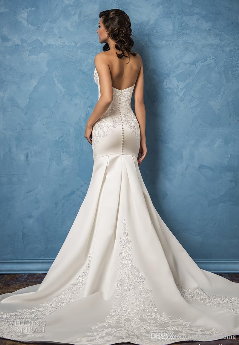 Mermaid Satin Wedding Dresses 2017 Amelia Sposa Bridal Gowns ...