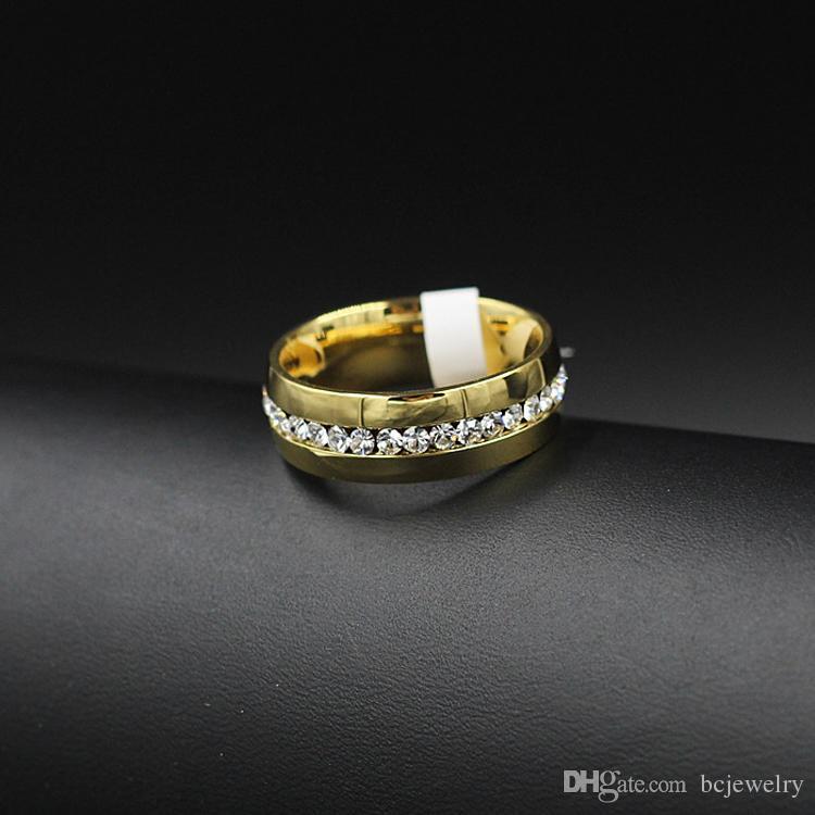 BC-Schmucksachen 2015 klassische Ringe, Art- und Weiseschmucksache-Verlobungs-Hochzeits-Geschenk-Ring-Kanal-Set Ewigkeit 316L Edelstahl, freies Verschiffen BC-0057