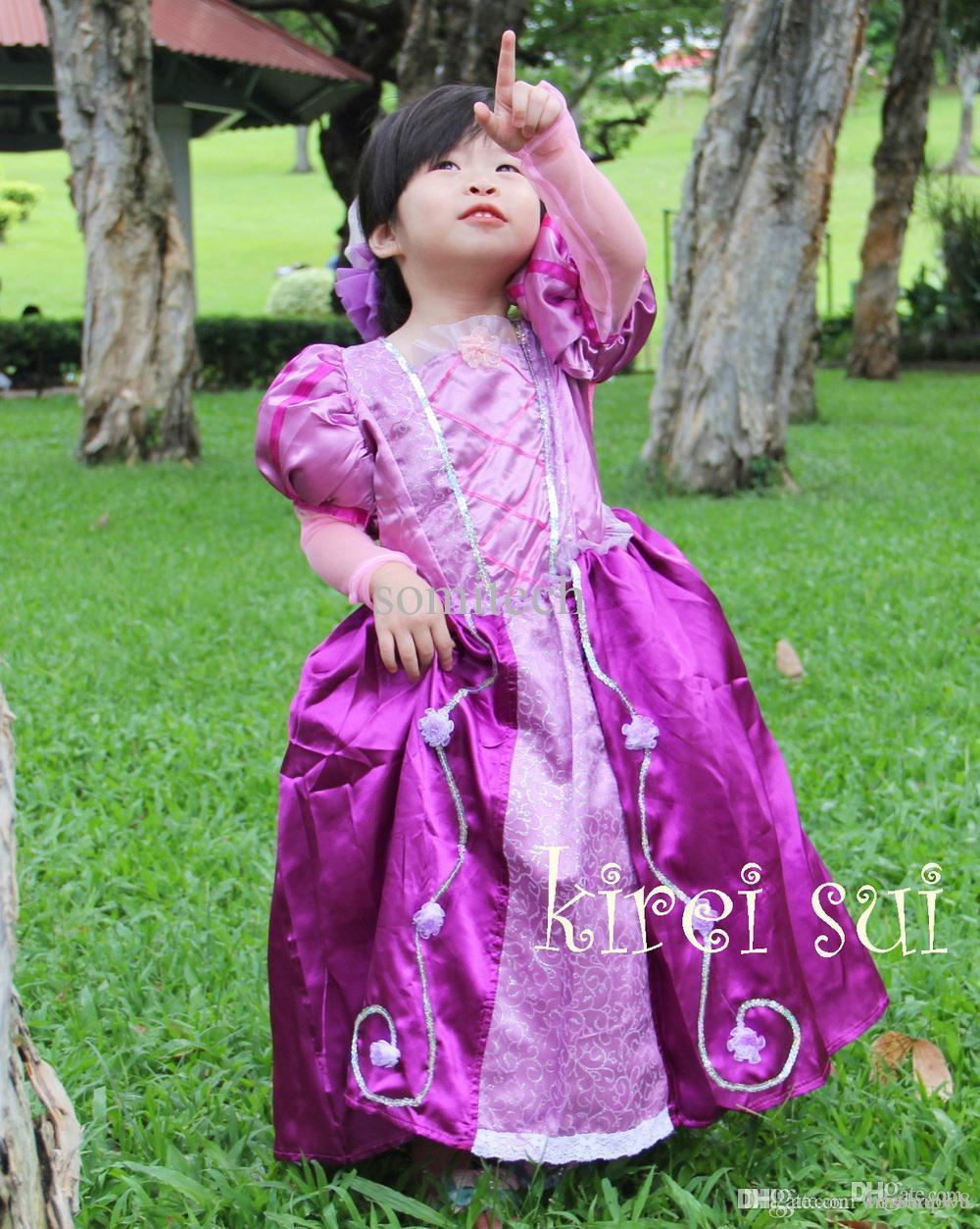 Compre Vestido De La Princesa Mayor Halloween Púrpura Del Partido De ...
