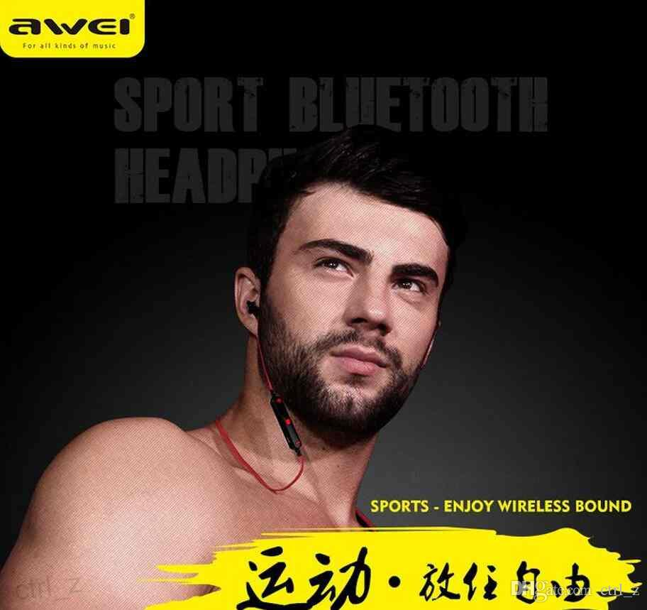 2016 Awei A960BL Stereo Music Wireless Bluetooth Earphone Sports In-Ear Headphone Handfree with Mic for iPhone Samsung Cell Phones iPod Mp4