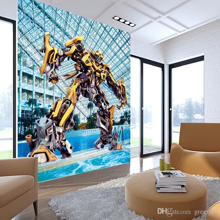 Transformers Bumblebee Wallpaper Autobots Movies Wall Mural 3d Large Wall  Art Room Decor Boyu0027S Room Bedroom Sofa Backdrop Home Decoration Full Hd  Wallpaper ...