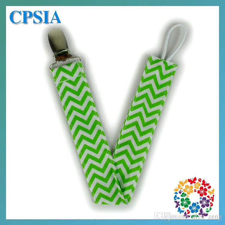 New Baby Chevron Pacifier Clips kids toddlers Cartoon cotton Pacifier Clips 100 cotton Safety Accessorie Baby Swings Baby Clips