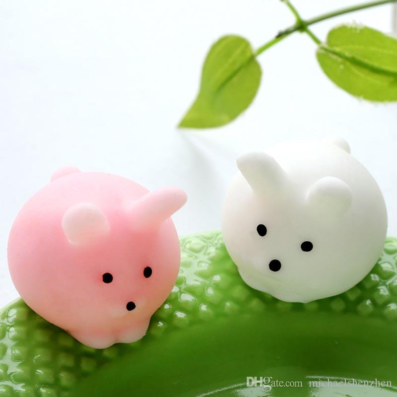 Fidget PVC Animal extrusion vent toys Squishy rebound squishy Funny Gadget Vent Decompression toy Mobile Pendant B001
