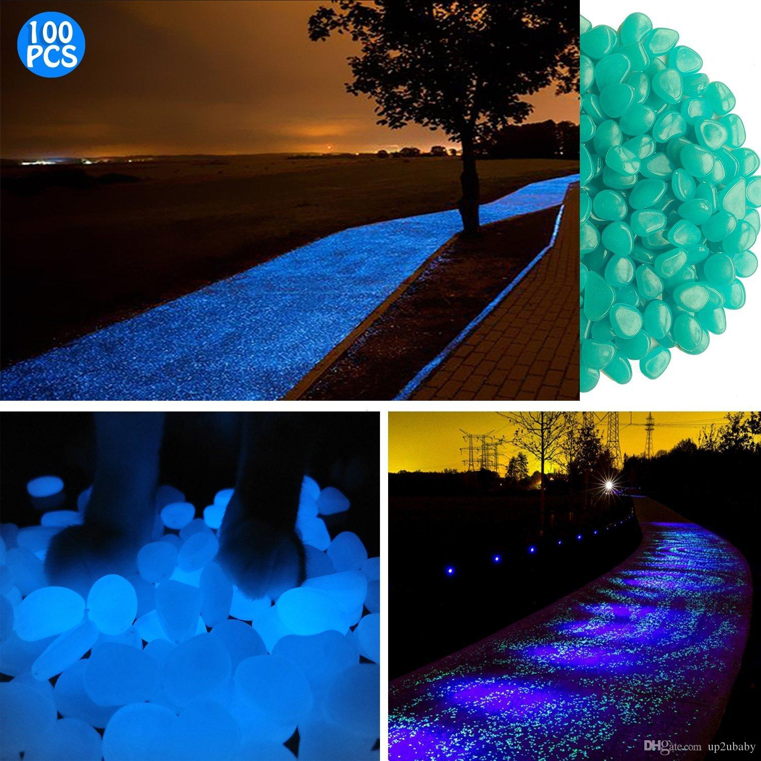 2018 glow in the dark garden pebbles glowing stones for walkway yard and decorblue from up2ubaby 692 dhgatecom - Glow In The Dark Garden Pebbles
