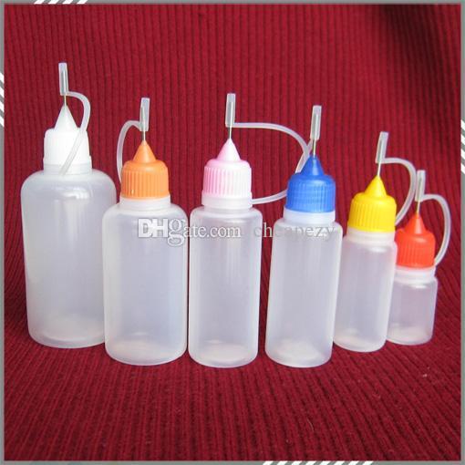 EGO Botella de aguja vacía 5ml 10ml 15ml 20ml 30ml 50ml para EGO E Botella de aceite líquido para EGO Series Cigarrillo electrónico DHL Gratis