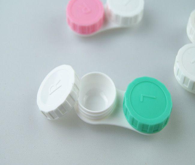 Livraison gratuite Prix le plus bas  cas de lentilles de contact belle coloré Dual Box Double Lens Lens trempage