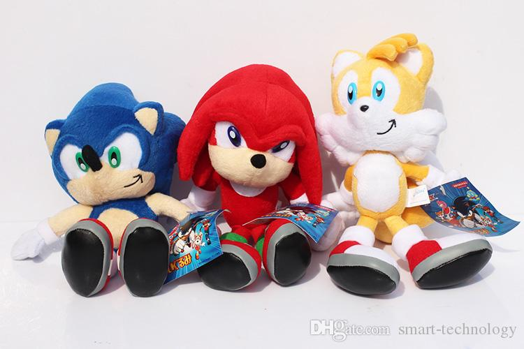 3шт / набор Новое прибытие Sonic The Hedgehog Соник Хвосты Knuckles ехидна Фаршированные Плюшевые игрушки с меткой 9