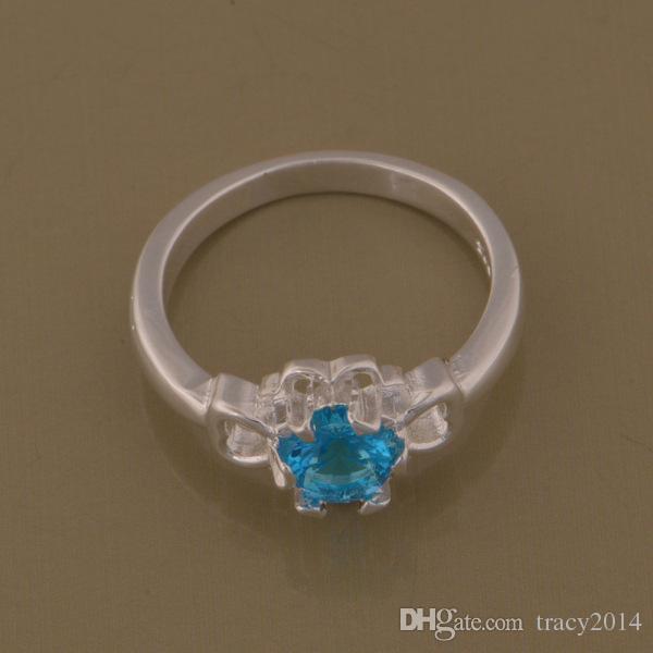 Размер 8 ретро ювелирные изделия заполненные женщины 925 серебряное покрытие кольца многоцветный австрийский стразы классический Must-have простой Леди кольцо