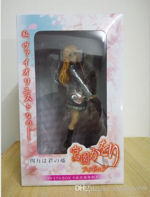 Your Lie in April characters Kaori Miyazono pvc action figure model toy hot anime approx 20cm with box