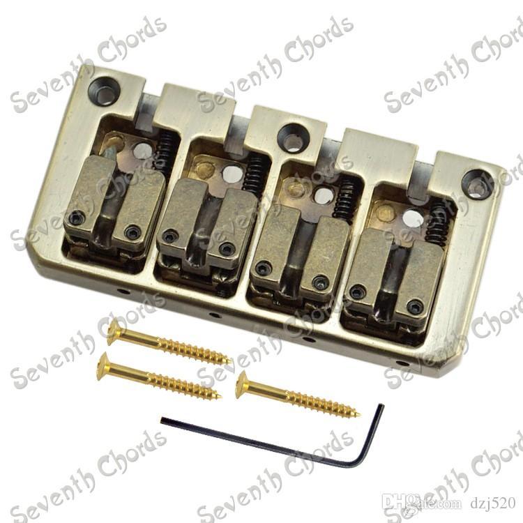 مجموعة مزدوجة رصاصة السرج 4 سلسلة باس جسر لاستبدال قطع غيار غيتار كهربائي باس