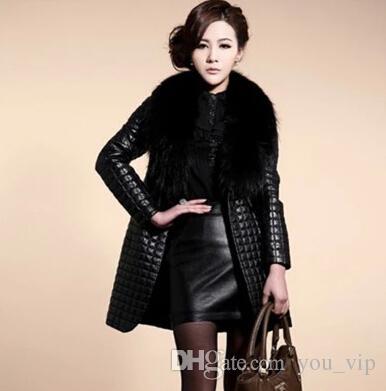 Best Hot!! 2016 New Women'S Coats Luxury Faux Fur Collar Coat ...
