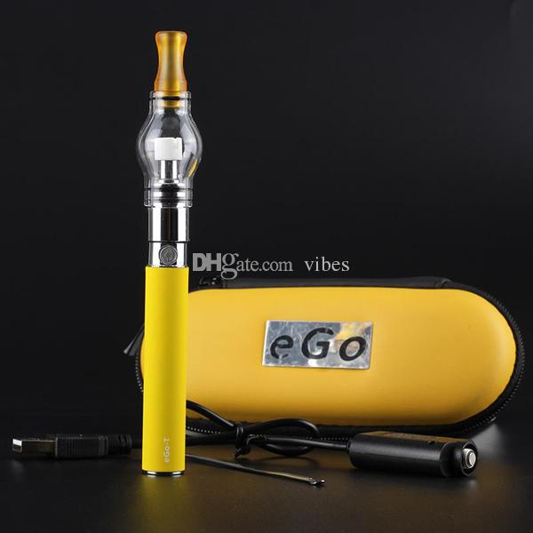 Glass Globe Wax Atomizer eGo T Kit - Bulb Dome Atomizer Pen with eGo T 650mah Battery Kit in Bag - DHL