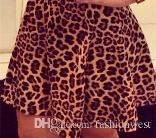 Gonna leopardata abiti sexy gonne del partito nuove donne sexy di modo della sirena della fasciatura del pannello esterno colletto quadrato gonna stampa gonna abiti stropicciati 66057 #