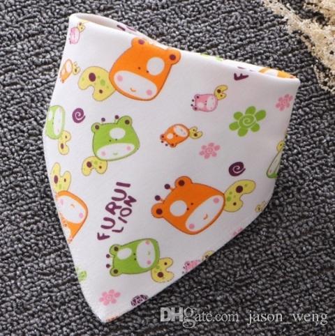 Sıcak Satış Bebek Önlükler Pamuk Bebek Tükürük Havlu Burp Bezleri Karikatür Baskı Yenidoğan Bebek Için Pinafore Üçgen