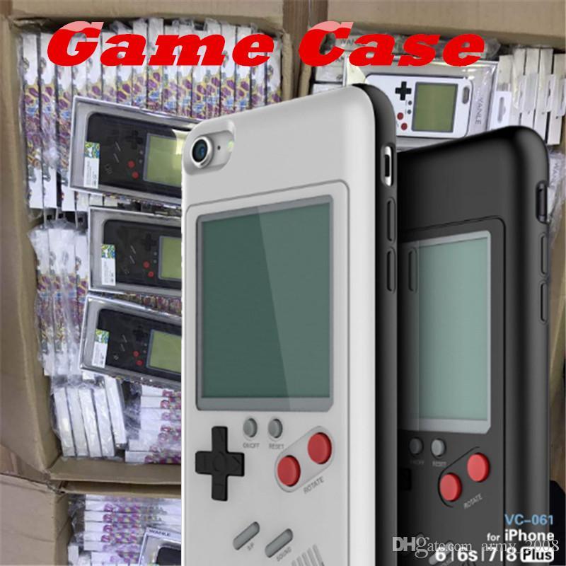 Fundas para teléfonos Tetris Play Blokus Funda para consola de juegos TPU Funda protectora a prueba de golpes para Iphone 6 6s 7 8 Plus Paquete minorista
