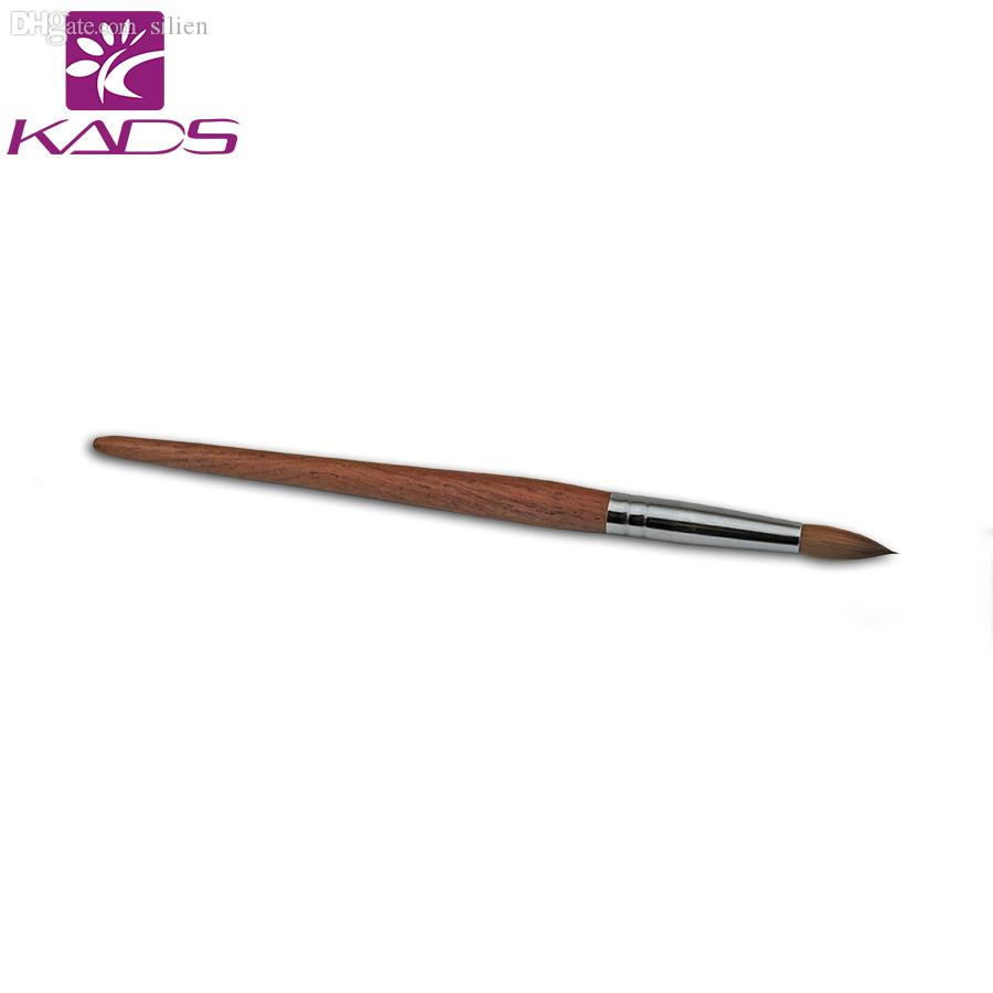 Wholesale 12# 100% Kolinsky Sable Pen Red Wood Acrylic Brush For ...
