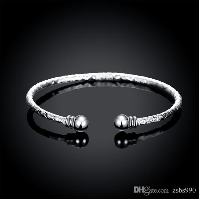 6 style 925 Sterling argent plaqué bracelets mats bijoux de fête de mode pour les femmes Top qualité prix d'usine livraison gratuite