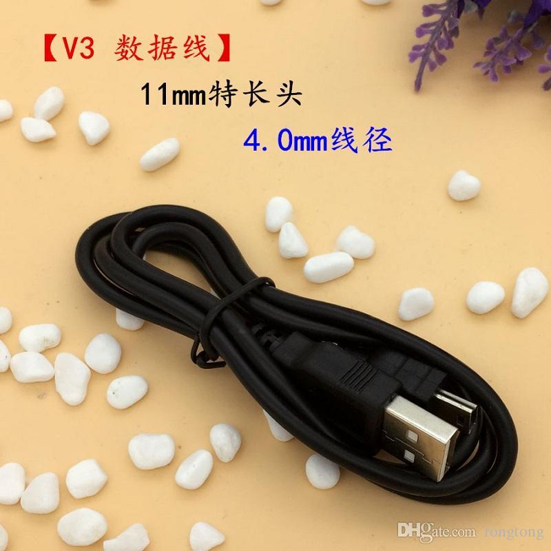 Mini cables USB de 5 pines 100 cm 1 m 3 pies Mini 5 p Cable de carga de datos OD4.0 Núcleo de cobre puro USB 2.0 A a Mini B 5 pines V3 cabezal largo para cámara mp3