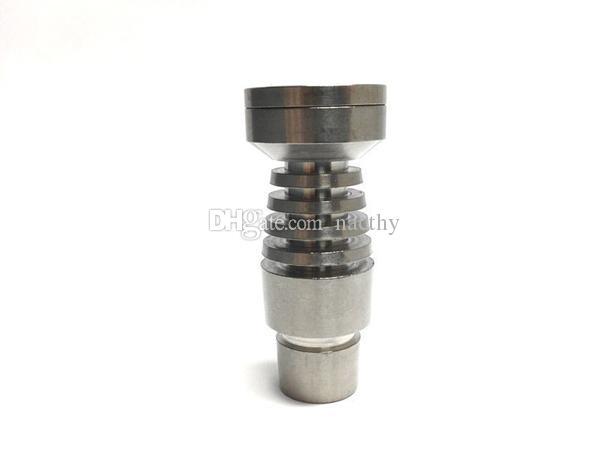 Prezzo di fabbrica T-003 Domeless titanio chiodo titanio GR2 Chiodi giunto entrambi 14mm e 18mm vetro Bong Narghilè fumo tubo di acqua Bong