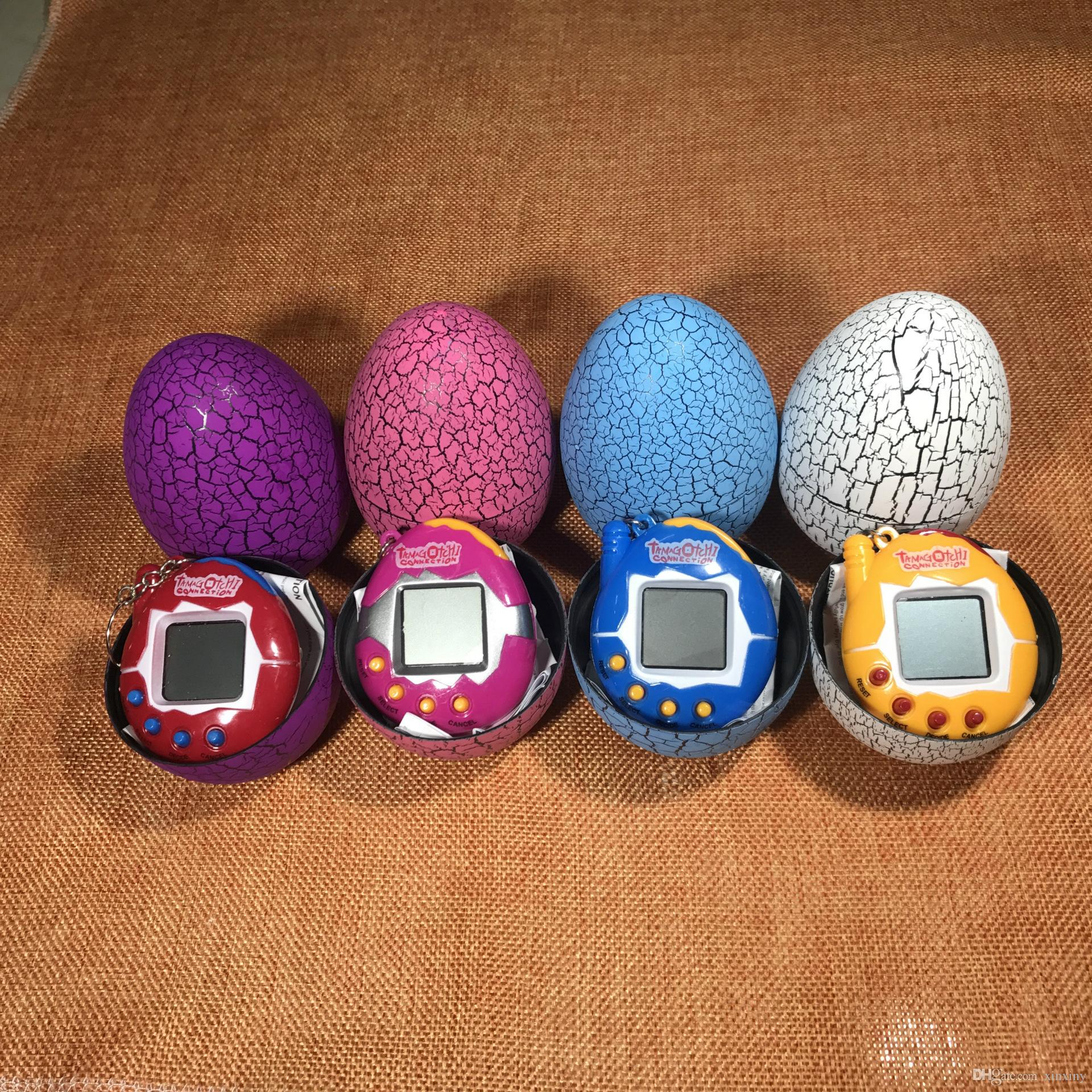 Neue Multi-color Cartoon Überraschung Ei Acrobata Elektronische Pet Mini Hand Spielmaschine kind spielzeug kleines geschenk