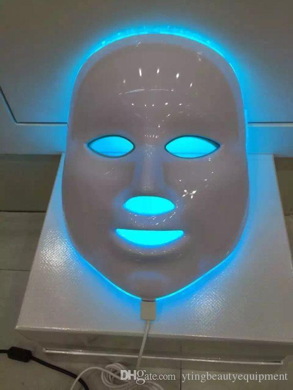 pdt led facial mask red & blue light therapy anti aging acne treatment skin care beauty equipment