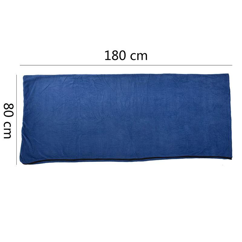 Sacco a pelo da campeggio portatile da esterno in pile 180 * 80 cm