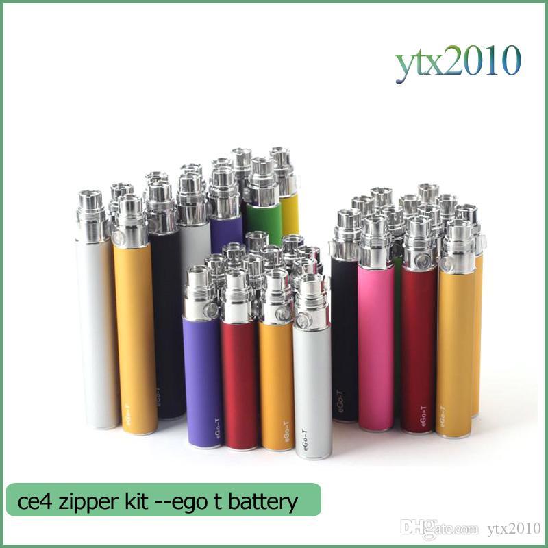 Ego starter kit CE4 atomizador Cigarro eletrônico e cig kit 650 mah 900 mah 1100 mah EGO-T blister bateria caso Clearomizer E-cigarro Dhl